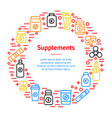 sport supplements banner card circle vector image