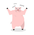 Surprised pig says OOPS Perplexed boar Struck vector image vector image