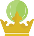 Tennis Crown vector image vector image