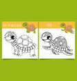 turtle games dot dot and coloring game vector image