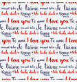 valentine calligraphic seamless pattern i love vector image vector image