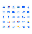 video call and online communication icons set vector image