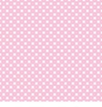 White polka dots on tile pink background pattern vector image vector image