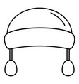 winter fashion headwear icon outline style vector image vector image