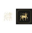 zodiac sagittarius horoscope sign line art vector image