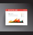 flat design infographics statistics graph vector image
