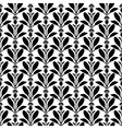 flower pattern silhouette vector image