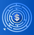 Dollar Sign in The Circle Maze vector image