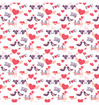 14 february valentines day seamless pattern vector image
