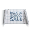 Back to School Sale curved paper banner vector image vector image