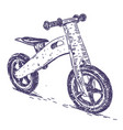 balance bike hand drawn vector image