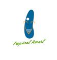 beach slipper in tropical resort concept vector image