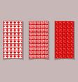 beautiful fine red textile patterns sampler mock vector image vector image