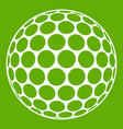 black and white golf ball icon green vector image vector image