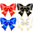 Black and white holiday bows with gold border vector image vector image