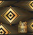 black background art deco frames vector image vector image