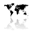black world map silhouette vector image