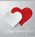 bright valentines day background sparkling paper vector image vector image