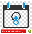 Cell Penetration Calendar Day Eps Icon vector image vector image
