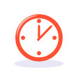 clock of red color poster vector image vector image