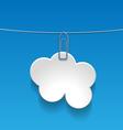 cloudLabel vector image