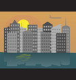 colorful-city vector image