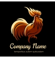 Company logo template with fire cock vector image vector image