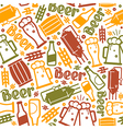 craft beer brewery seamless pattern vector image