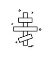cross icon design vector image vector image