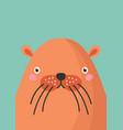 cute beaver snout flat vector image vector image