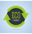 Eco friendly stamp with arrows vector image