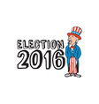 Election 2016 Uncle Sam Shouting Retro vector image vector image