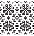 ethnic geometric pattern in black and white colors vector image vector image