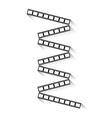 filmstrips with shadow vector image vector image