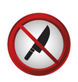 forbidden signs design vector image vector image