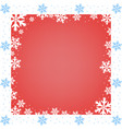 frame christmas and new year snowflakes vector image