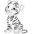 funny cute tiger cub vector image