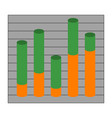 graph with cylindrical columns vector image vector image