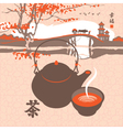 kettle the scenery vector image vector image