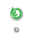 letter o leaf vector image vector image