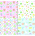 memphis style pastel patterns vector image