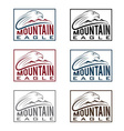 mountain eagle vintage labels set vector image vector image