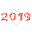 new year 2019 concept - love sign vector image vector image