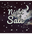 night sale on a blurred background vector image vector image