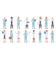 nurse and female doctors women doctors team vector image