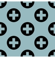 Pale blue medical pattern 1 vector image