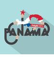 Panama City The Capital Of Panama Typography vector image vector image