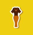 paper sticker fashion clothes women pants and vector image