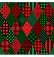 Patchwork colors Harlequin vector image vector image