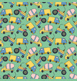 pattern element cargo vehicle seamless pattern of vector image